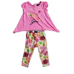 💗Guess 2- Piece Ensemble with Flowers, 18m